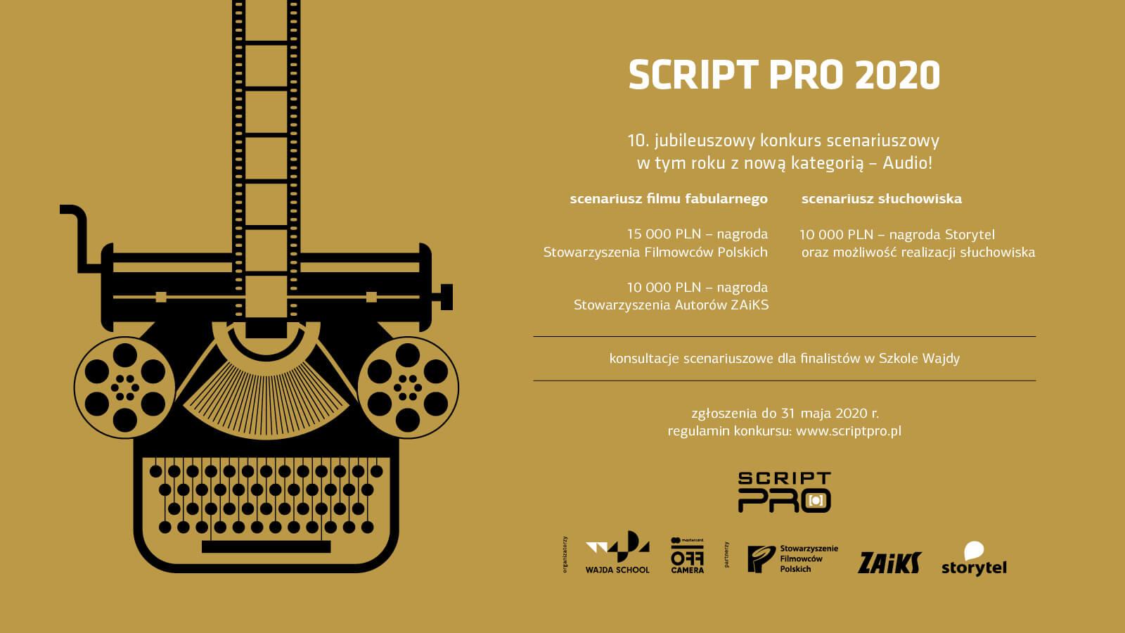 Nabór na konkurs Script Pro 2020